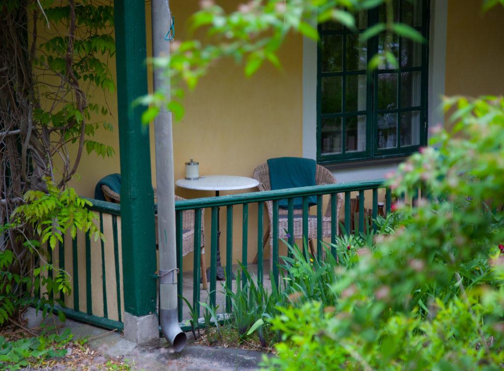 Sittplats på verandan