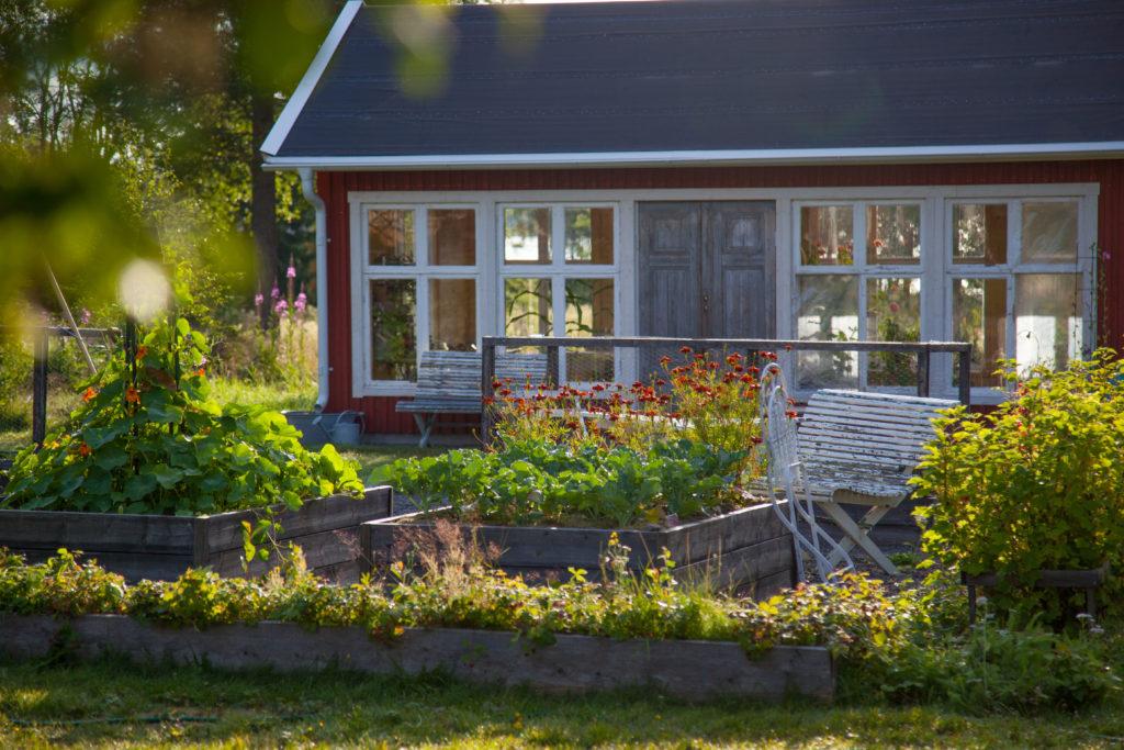 Växthuset bakom köksträdgården