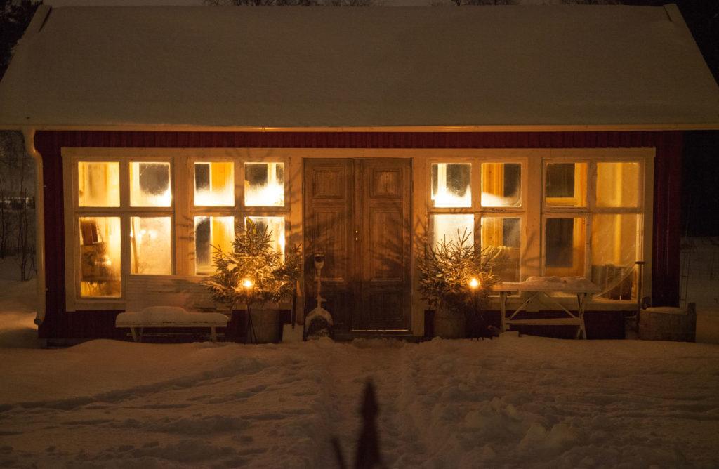 Växthuset i vinterskrud
