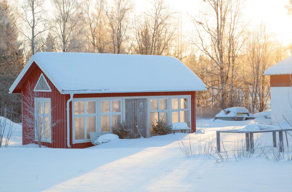 Växthuset i vintersol